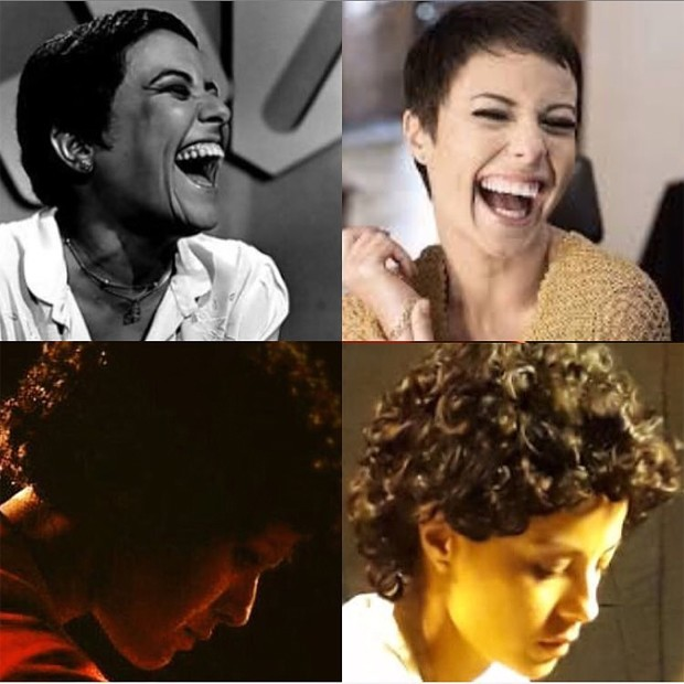 Andreia Horta faz comparações de fotos de Elis Regina com imagens em que aparece caracterizada como a cantora (Foto: Reprodução/Instagram)