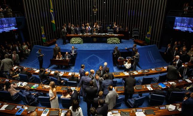 Plenário do Senado, durante sessão que definiu novo presidente