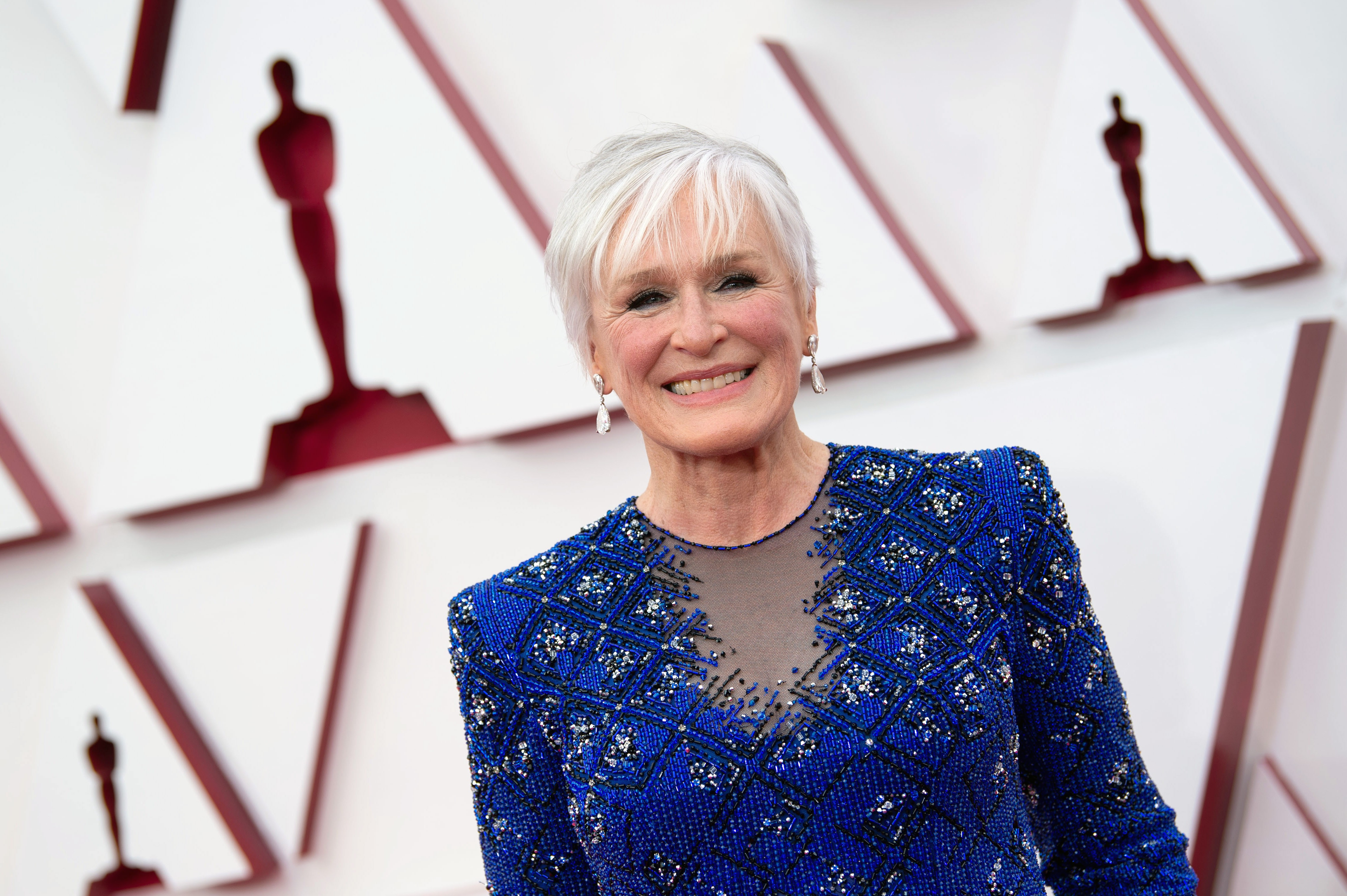 Glenn Close no Oscar 2021  (Foto: Getty Images )