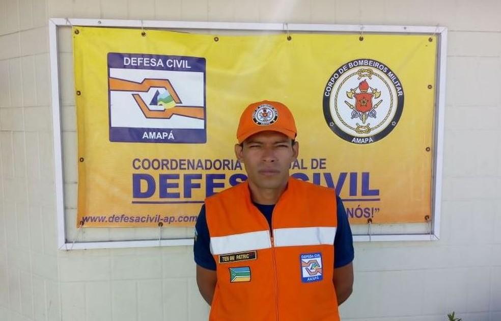 Tenente Patric Rodrigues, chefe da Seção de Resposta da Defesa Civil do Amapá (Foto: Divulgação/Defesa Civil)