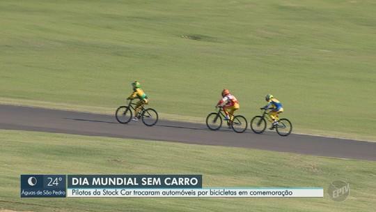 Pilotos renomados disputam corrida de bicicleta no Dia Mundial Sem Carro, em Mogi Guaçu