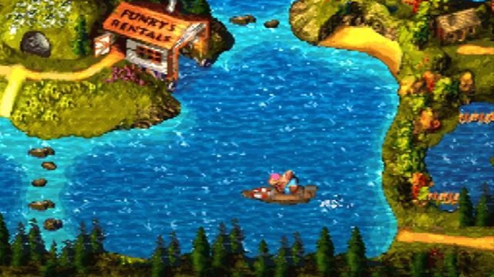 Donkey Kong Country 3 adicionou um bem-vindo elemento de aventura que tornou a jornada ainda mais divertida — Foto: Reprodução/MobyGames