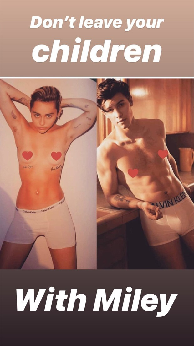 Miley Cyrus e Shawn Mendes (Foto: Reprodução / Instagram)
