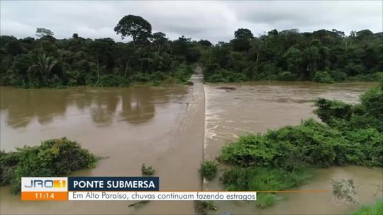 Rodovias seguem interditadas pelo 2° dia seguido por estarem submersas, em RO