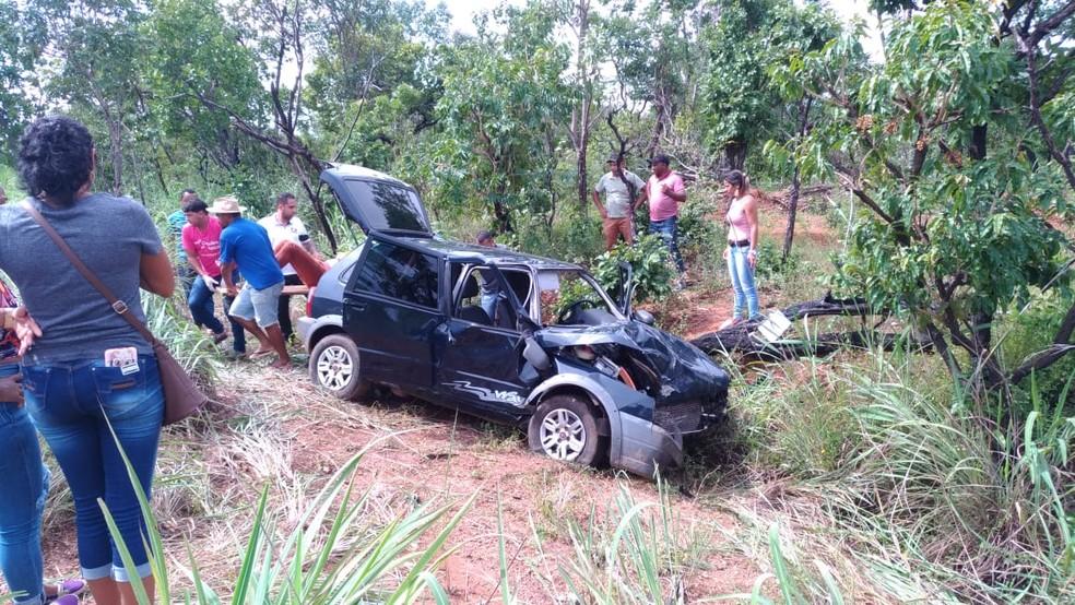 Acidente foi registrado na TO-040 — Foto: Divulgação/Polícia Militar