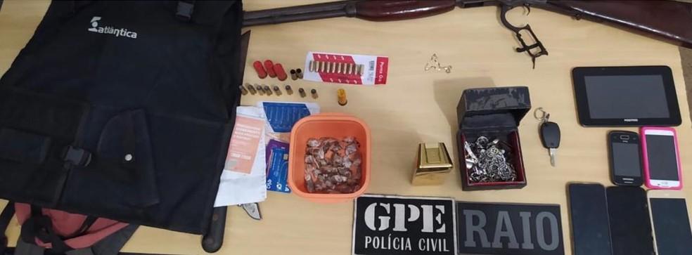 Presos suspeitos de terem roubado Fórum de Justiça da cidade de Carolina. — Foto: Divulgação/Polícia Civil.