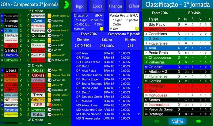Elifoot 98, o clássico jogo de PC agora no seu celular Android, e de graça (Foto: Divulgação / Elidreams)