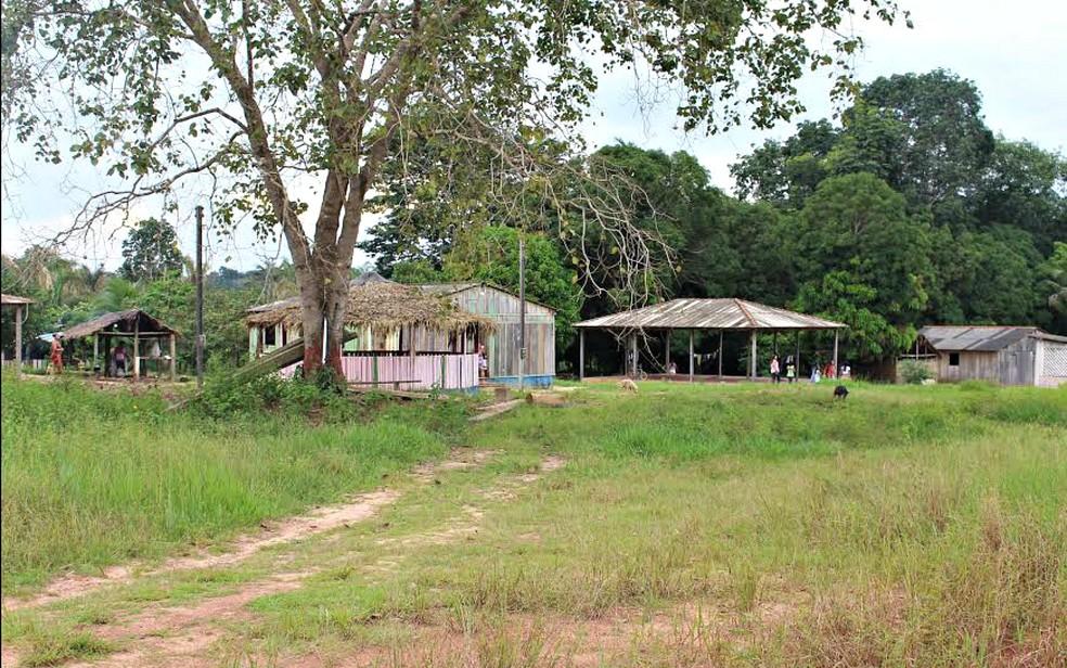 Aldeia dos índios Tenharim, em Humaitá, no Sul do Amazonas — Foto: Larissa Matarésio/G1 AM