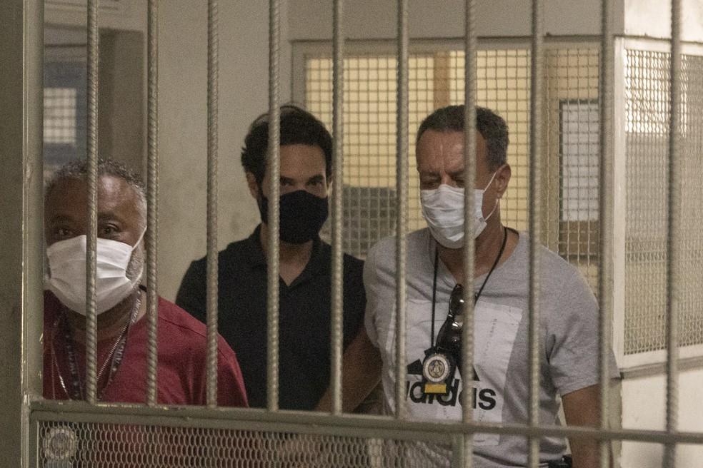 Prisão do vereador Dr Jairinho no Rio de Janeiro, na manhã desta quinta-feira (8). — Foto: FOTOARENA/FOTOARENA/ESTADÃO CONTEÚDO