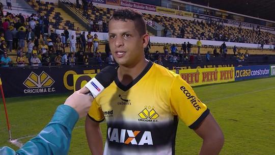 Lucão cumpre promessa de gol e vitória do Criciúma