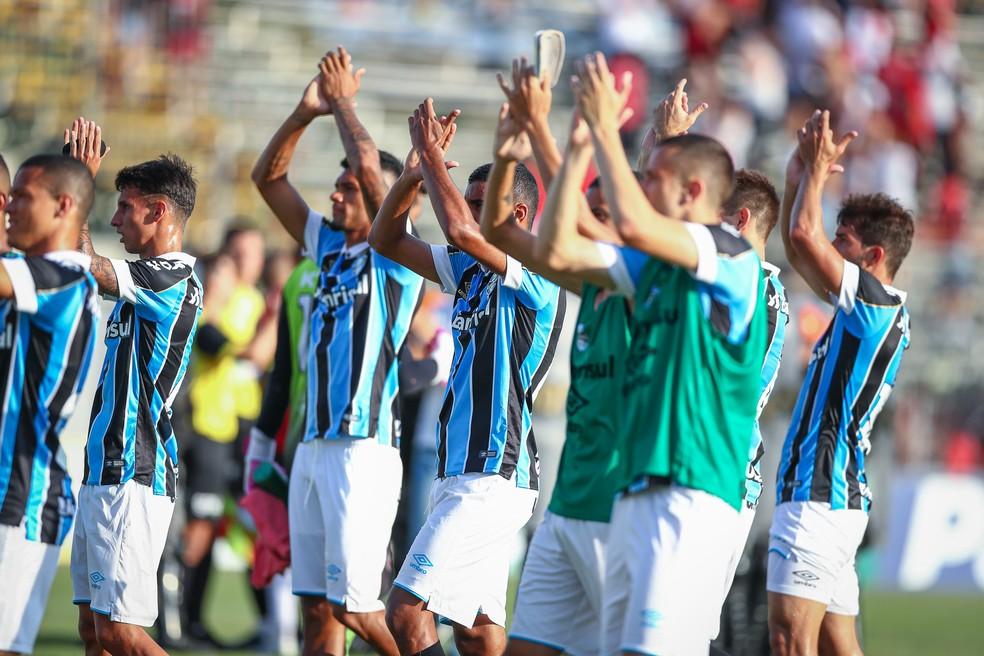 Grêmio vence a primeira no Campeonato Gaúcho — Foto: Lucas Uebel/Grêmio