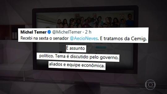 Depois de Temer, Aécio também nega que governo interfira em assuntos do PSDB