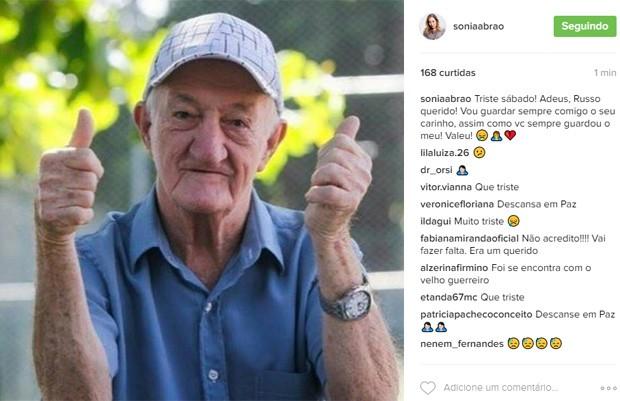 Sonia Abrão lamenta morte de Russo (Foto: Reprodução)