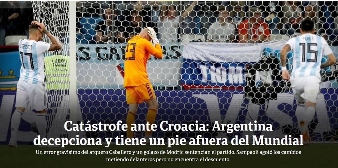 Clarín Argentina x Croácia