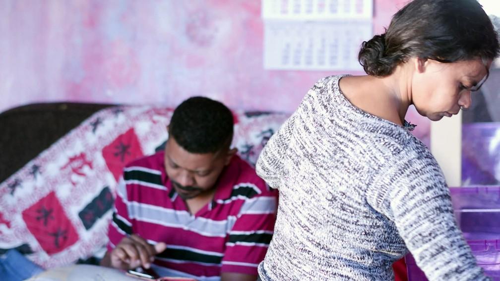 Solange vive em uma casa em Diadema com o marido — Foto: TV Globo/Reprodução