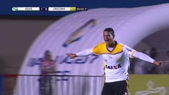 Os gols de Goiás 1 x 1 Criciúma pela 33ª rodada do Campeonato Brasileiro Série B