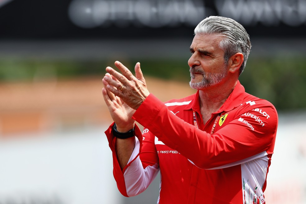 Maurizio Arrivabene, da Ferrari, no GP de Mônaco — Foto: Mark Thompson/Getty Images