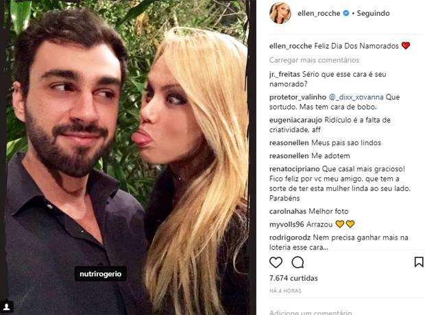 Ellen Rocche e  Rogério Oliveira (Foto: Reprodução/Instagram)