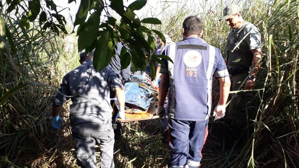 Homem estava desnutrido e não conseguia falar quando foi resgatado em Limeira — Foto: Wagner Morente/Comunicação GCM Limeira