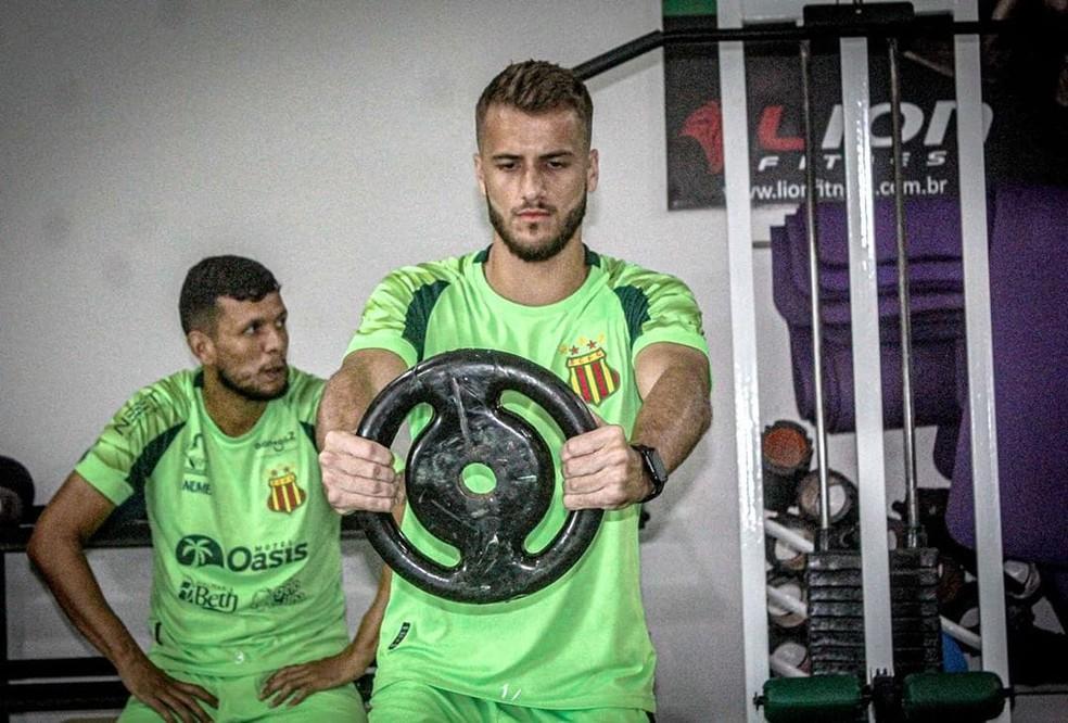 Matheus Steinmetz deixa o Sampaio após passagem tímida pelo clube em 2020. — Foto: Lucas Almeida/L17 Comunicação