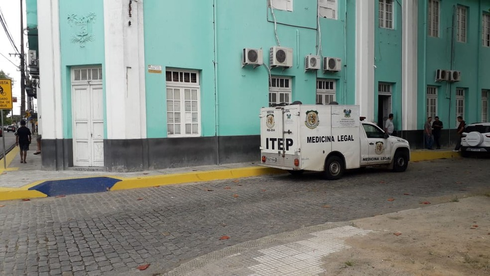 Sede do Instituto Técnico-Científico de Perícia (Itep-RN), no bairro da Ribeira, em Natal.  — Foto: Klênyo Galvão/Inter TV Cabugi