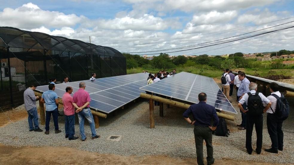 Usina foi inaugurada na manhã desta quinta-feira (26), no campus da UFCG, em Pombal, no Sertão da Paraíba  (Foto: Paulo Anastácio/UFCG/Divulgação)