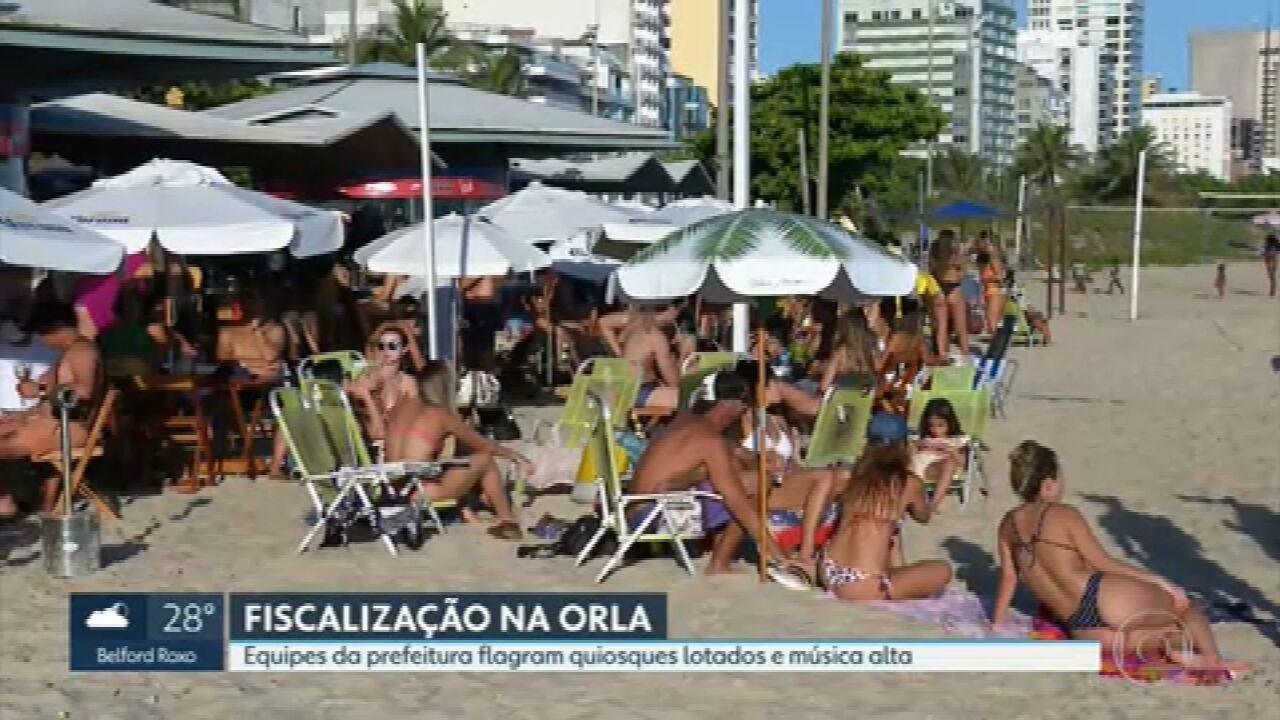 Secretaria de Ordem Pública fiscaliza uso de máscara e aglomerações no Rio