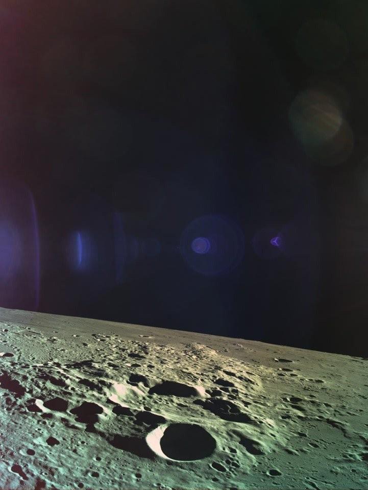 Última foto da Lua divulgada pela equipe da sonda Beresheet (Foto: Reprodução/Twitter)