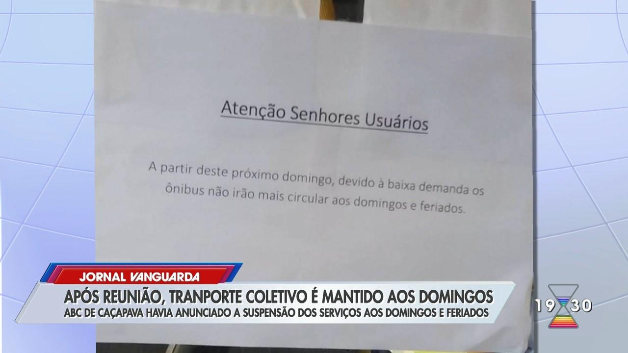 Empresa recua e transporte coletivo em Caçapava aos domingos e feriados é mantido