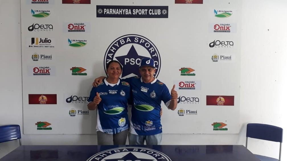 Batista Filho (presidente) e Socorro Prado (vice) são eleitos no Parnahyba para gestão até 2021 — Foto: Thiago Mont'Alverne