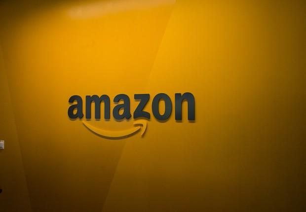 Logo da Amazon em sua sede em Seattle (Foto: David Ryder/Getty Images)
