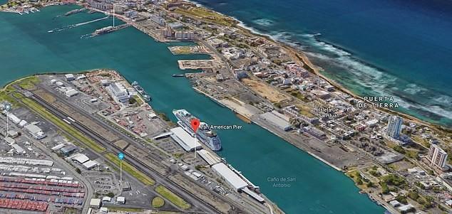 Doca de San Juan, onde o navio estava atracado (Foto: Google Maps)