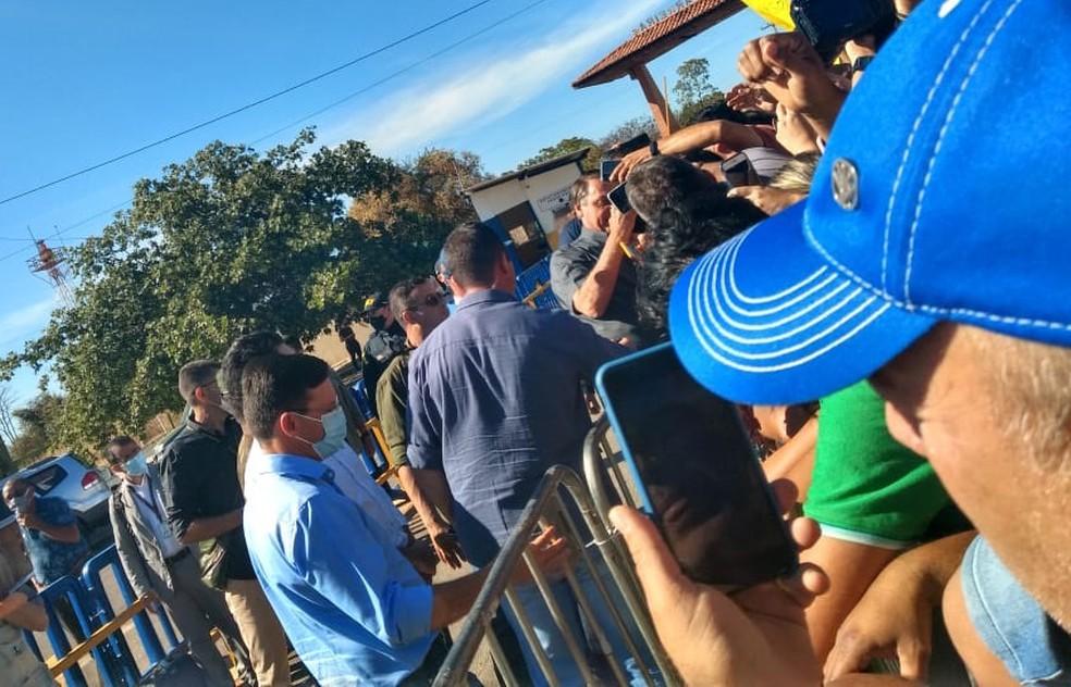 Bolsonaro visita a Bahia nesta sexta-feira — Foto: Carlos Augusto/TV Oeste