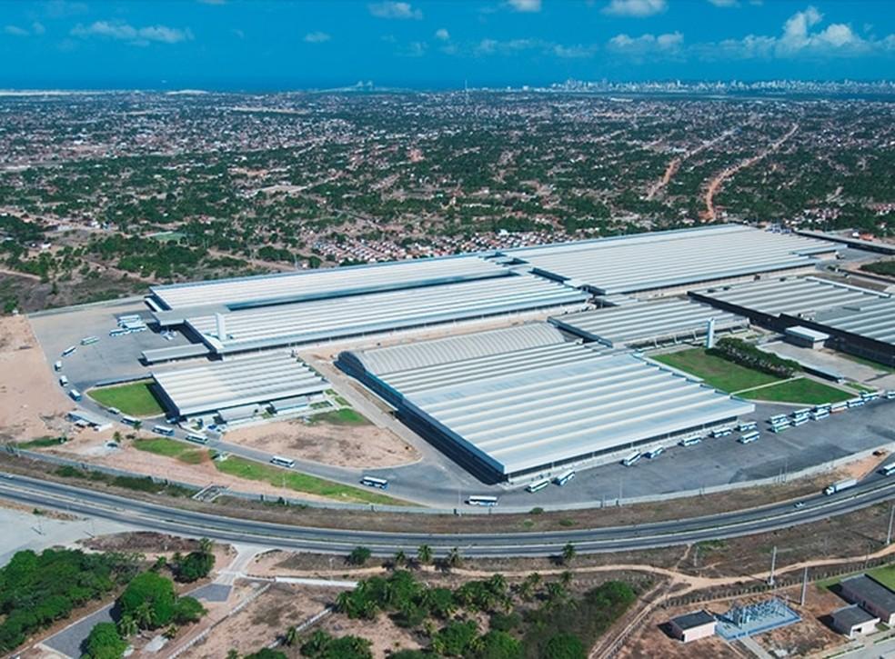 Fábrica da Guararapes em Extremoz, na região metropolitana de Natal — Foto: Divulgação