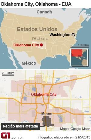 mapa tornado oklahoma versão 2 (Foto: 1)