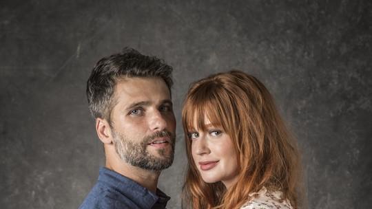 Marina Ruy Barbosa e Bruno Gagliasso falam da satisfação e do desafio de dividir o set: 'Temos riso frouxo'