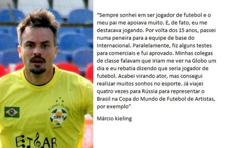 No ar em 'Pega pega', Márcio Kieling pensou em seguir carreira no futebol Divulgação/ Cleomir Tavares