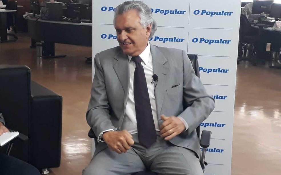 Caiado diz que vai ocupar ala do Hugol para atender crianças e tentar diminuir demanda no HMI em Goiás — Foto: Sílvio Túlio/G1