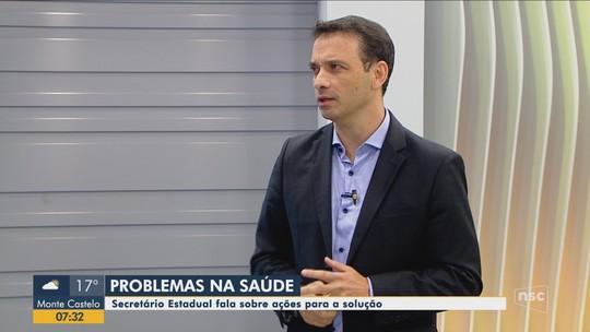 Secretário de Saúde, Helton Zeferino, fala sobre situação dos hospitais de SC