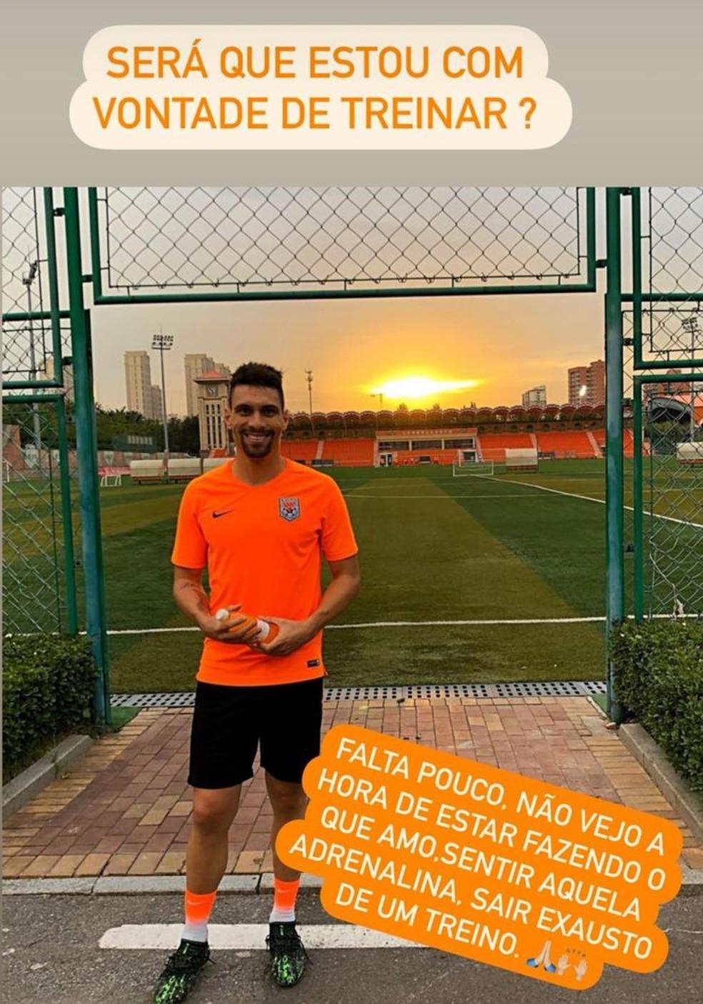 Moisés, ex-Palmeiras, vai voltar a treinar no Shandong — Foto: Reprodução