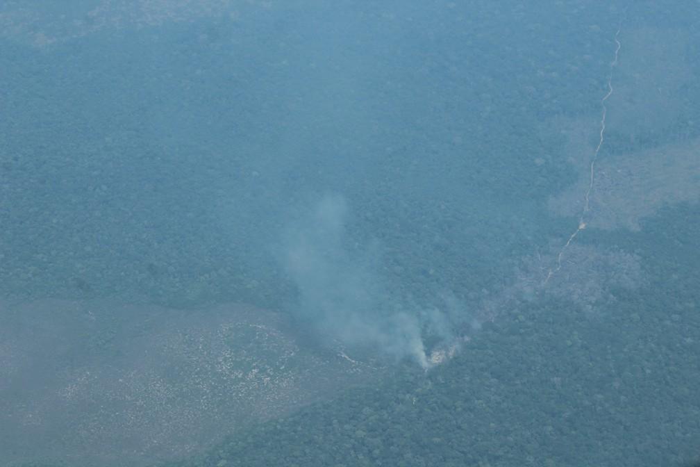 Queimada atinge municípios ao sul do Amazonas — Foto: Jonatas Boni/G1