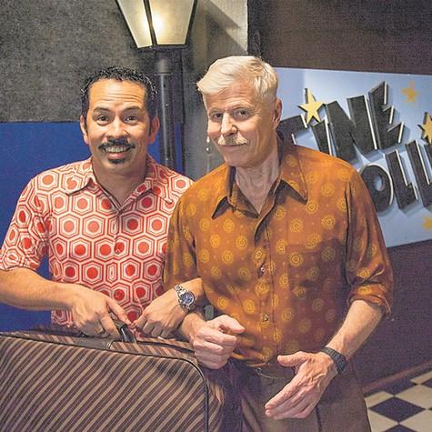 Miguel Falabella e Edmilson Filho (Foto: TV Globo/Marcos Rosa)