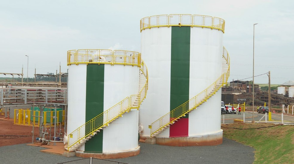 Planta de biogás, em Guariba (SP) — Foto: Chico Escolano / EPTV
