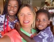 Giovanna Ewbank mostrou momento de arte com os filhos