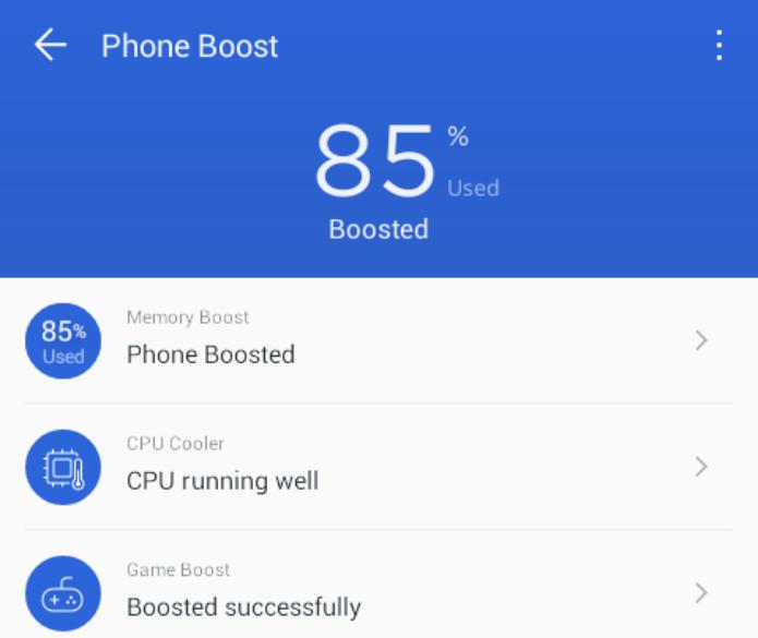 Otimizando com Phone Boost (Foto:Reprodução/Edivaldo Brito)