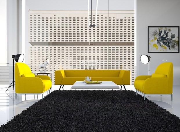 Sofá amarelo é uma das apostas para o ano que está chegando (Foto: Pixabay)