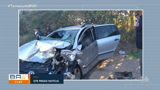 Acidente entre veículos deixa três mortos e dois feridos na BA-001