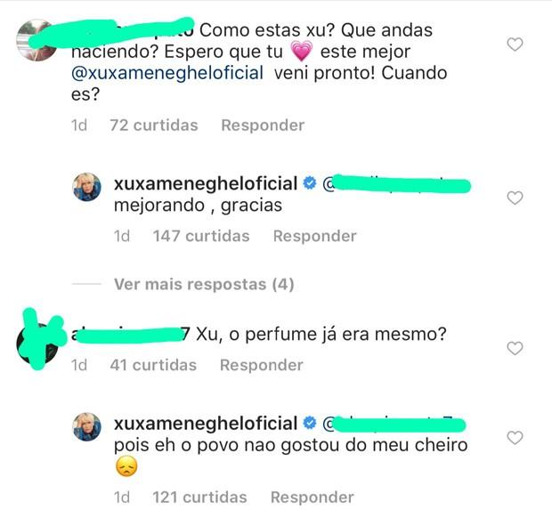 Xuxa responde fãs no Instagram (Foto: Reprodução/Instagram)