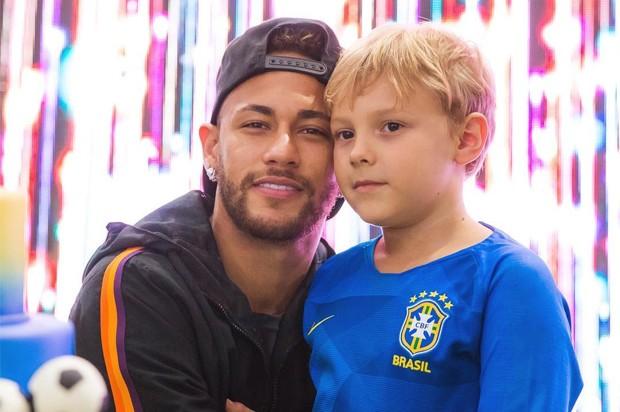 Neymar e Davi Lucca (Foto: Reprodução / Instagram)