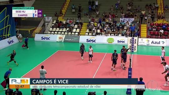 Campos conquista a vice no Campeonato Estadual de Vôlei
